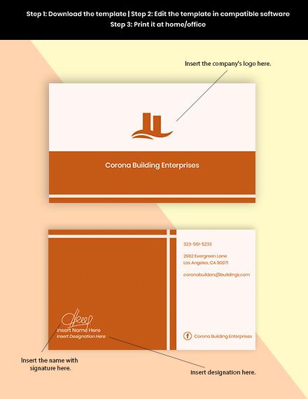 Free Sample Real Estate Business Card Format