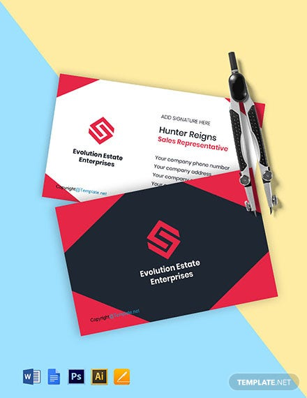 Professional Real Estate Business Card Template