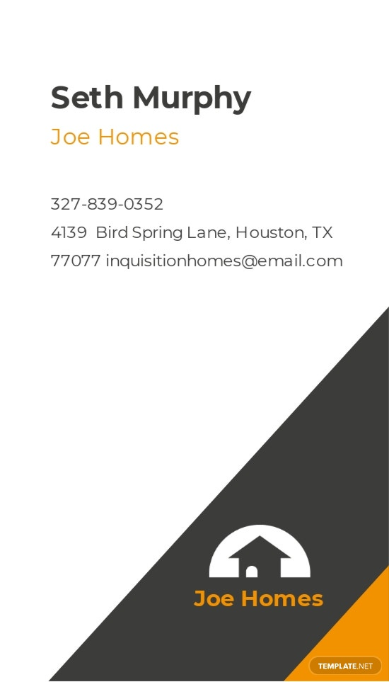 Real Estate Home for Sale Business Card Template 1.jpe