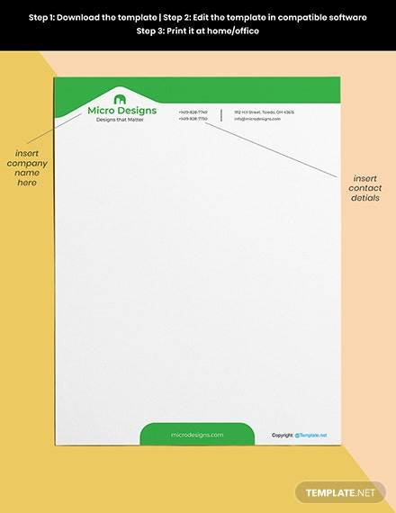 Free Simple Real Estate Letterhead Template Format