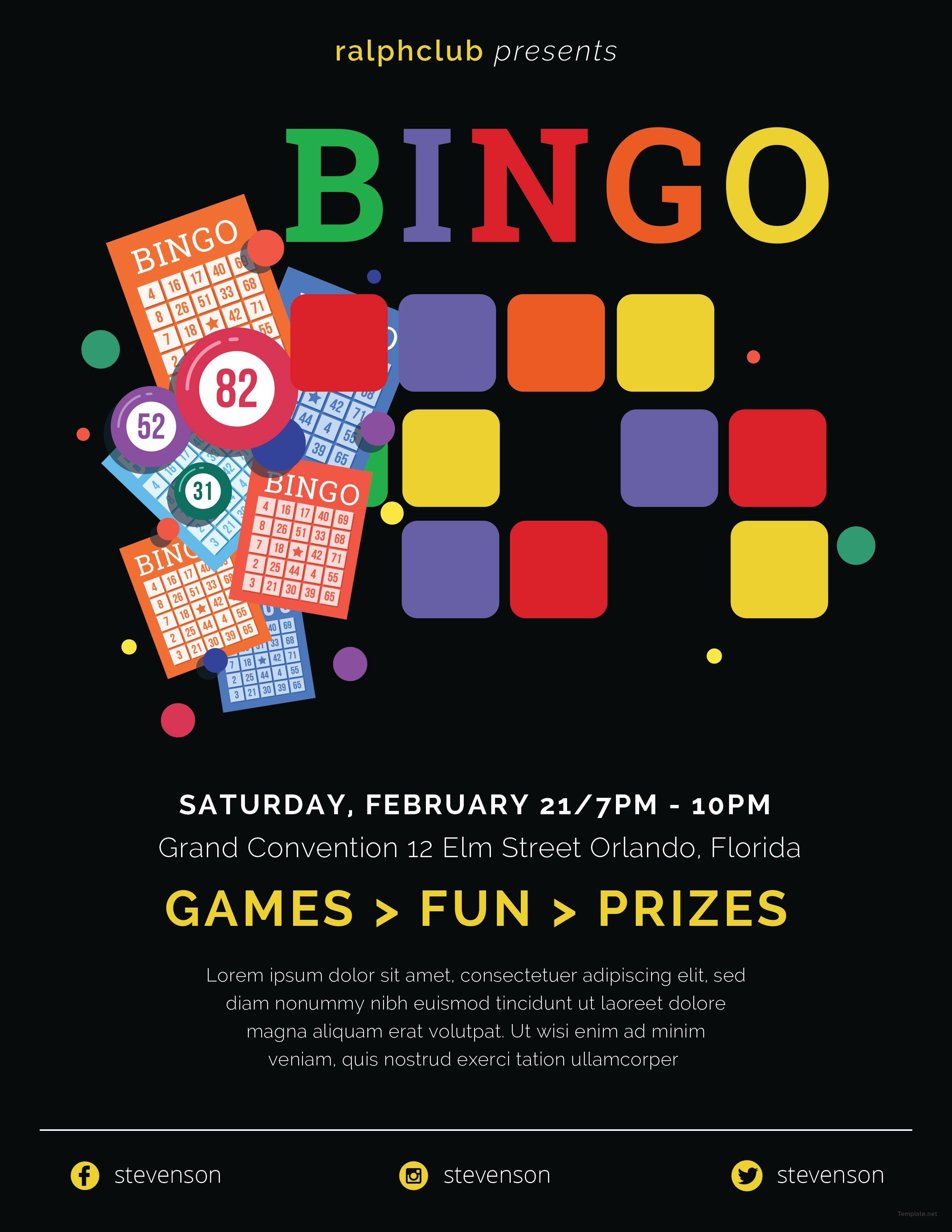 Free Bingo Flyer Template in Adobe Photoshop, Microsoft ...