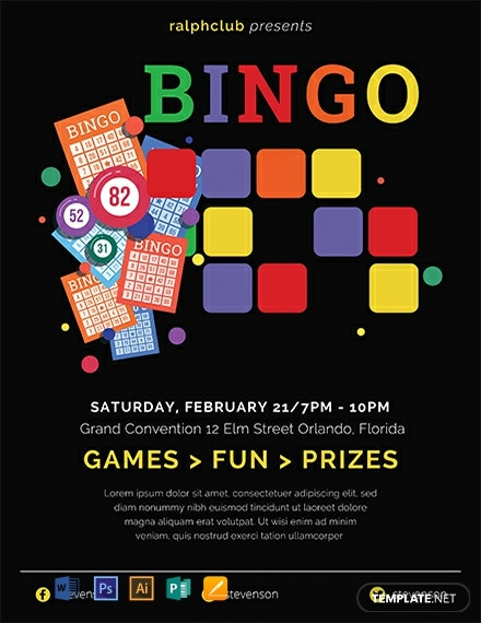 Free Bingo Flyer Template Word Psd Apple Pages