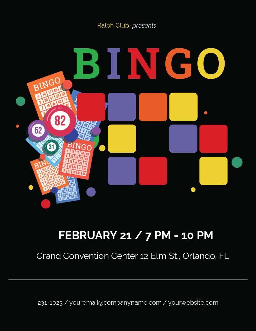 Free Bingo Flyer Template