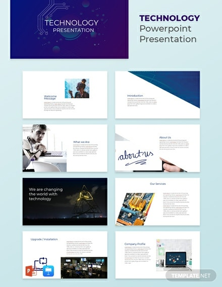 Free Technology Presentation Template