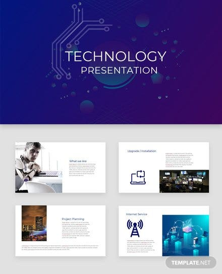 Technology Presentation Template | Free Templates