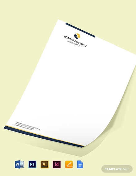 Real Estate Agent Letterhead Template