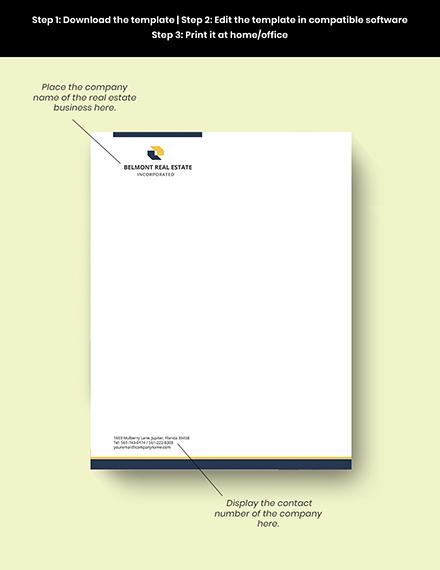 Real Estate Agent Letterhead editable