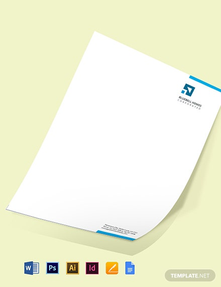Real Estate Property Letterhead Template