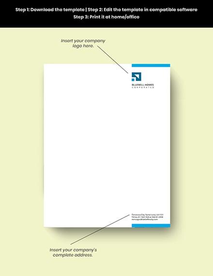Real Estate Property Letterhead editable