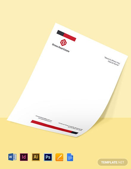 Commercial Real Estate Letterhead Template