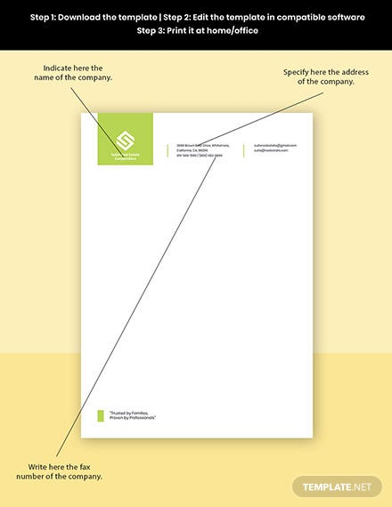 Real Estate Development Letterhead Template Format