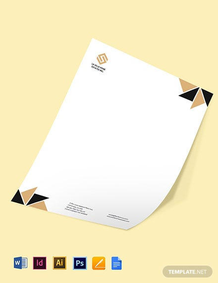 Luxury Real Estate Letterhead Template