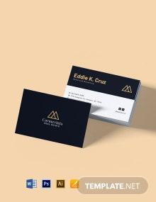Professional Real Estate Property Business Card Template