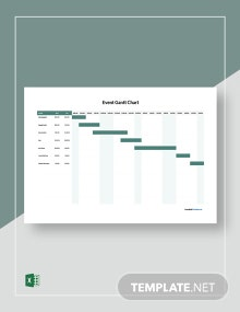 Free Simple Event Gantt Chart Template
