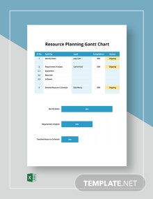 Resource Planning Gantt Chart Template