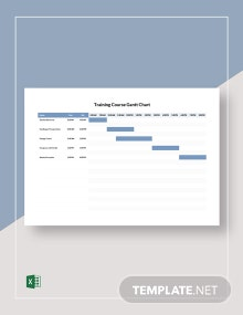 Training Course Gantt Chart Template