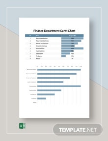 Finance Department Gantt Chart Template