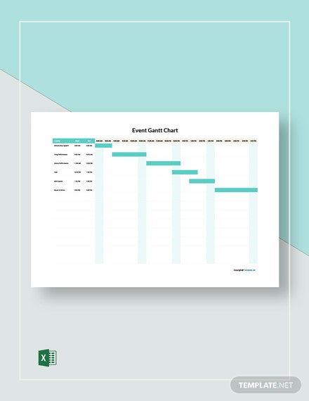 Free Sample Event Gantt Chart Template