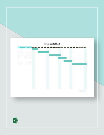 Free Sample Event Gantt Chart Template