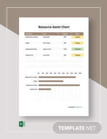 Free Simple Resource Gantt Chart Template