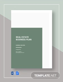 Free Sample Real Estate Business Plan Template