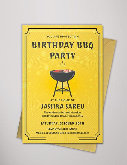 bbq birthday invitation templates