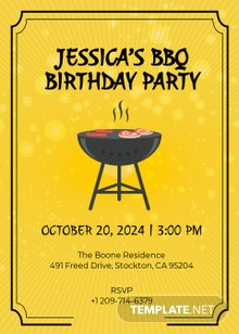 Free BBQ Birthday Invitation Template