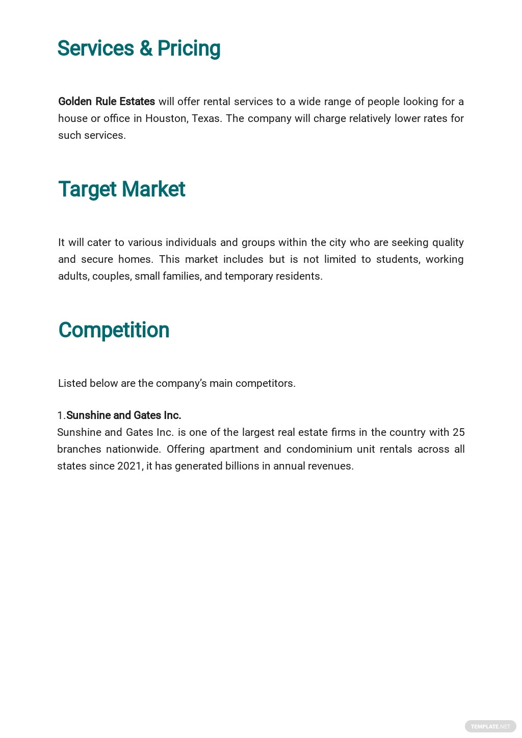 Free Simple Real Estate Business Plan Template 2.jpe