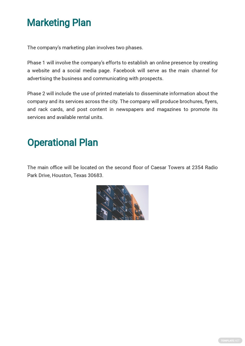 Free Simple Real Estate Business Plan Template 4.jpe