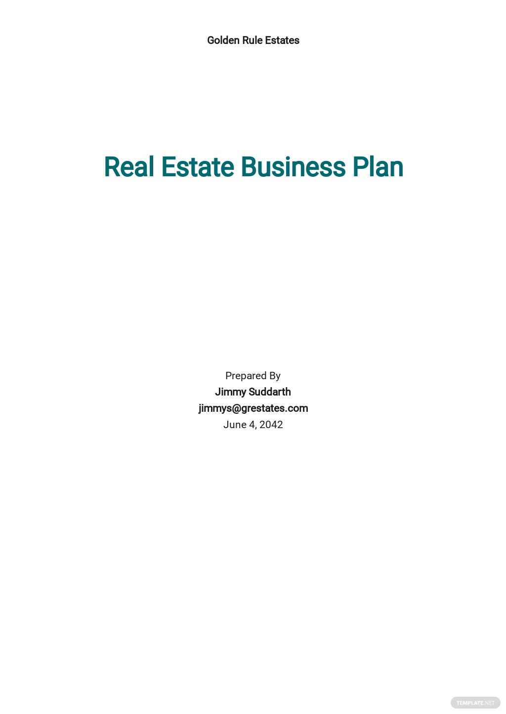 Free Simple Real Estate Business Plan Template.jpe