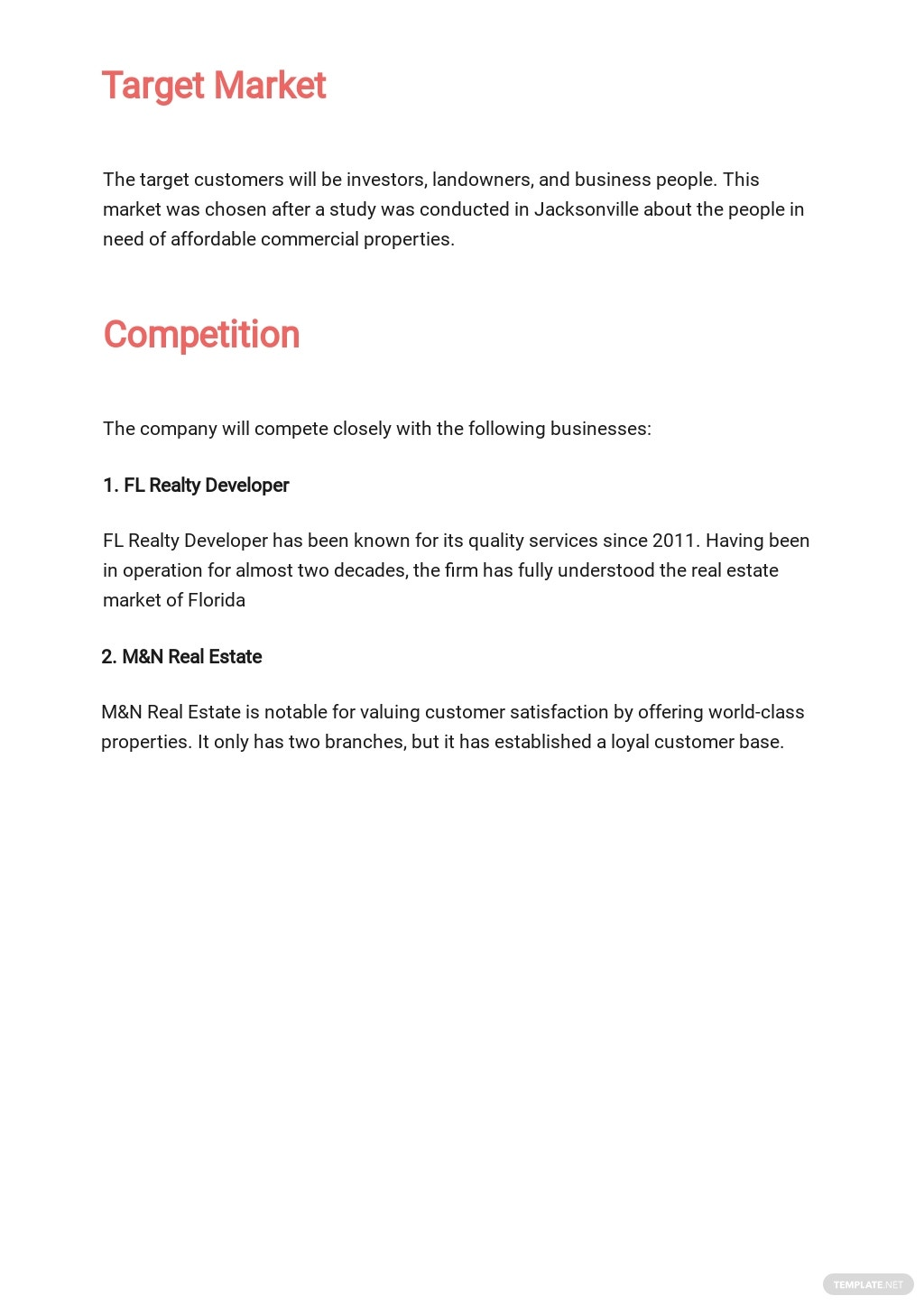 Free Commercial Real Estate Business Plan Template 2.jpe