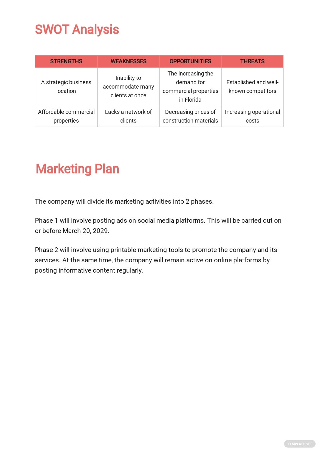 Free Commercial Real Estate Business Plan Template 3.jpe