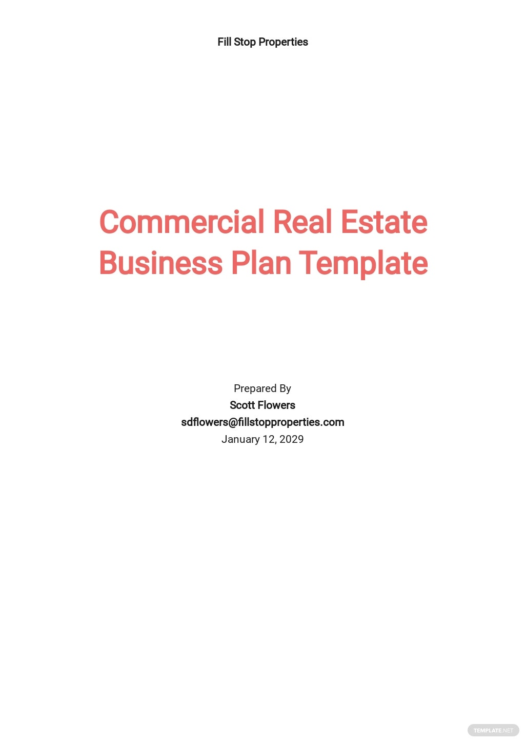 Free Commercial Real Estate Business Plan Template.jpe