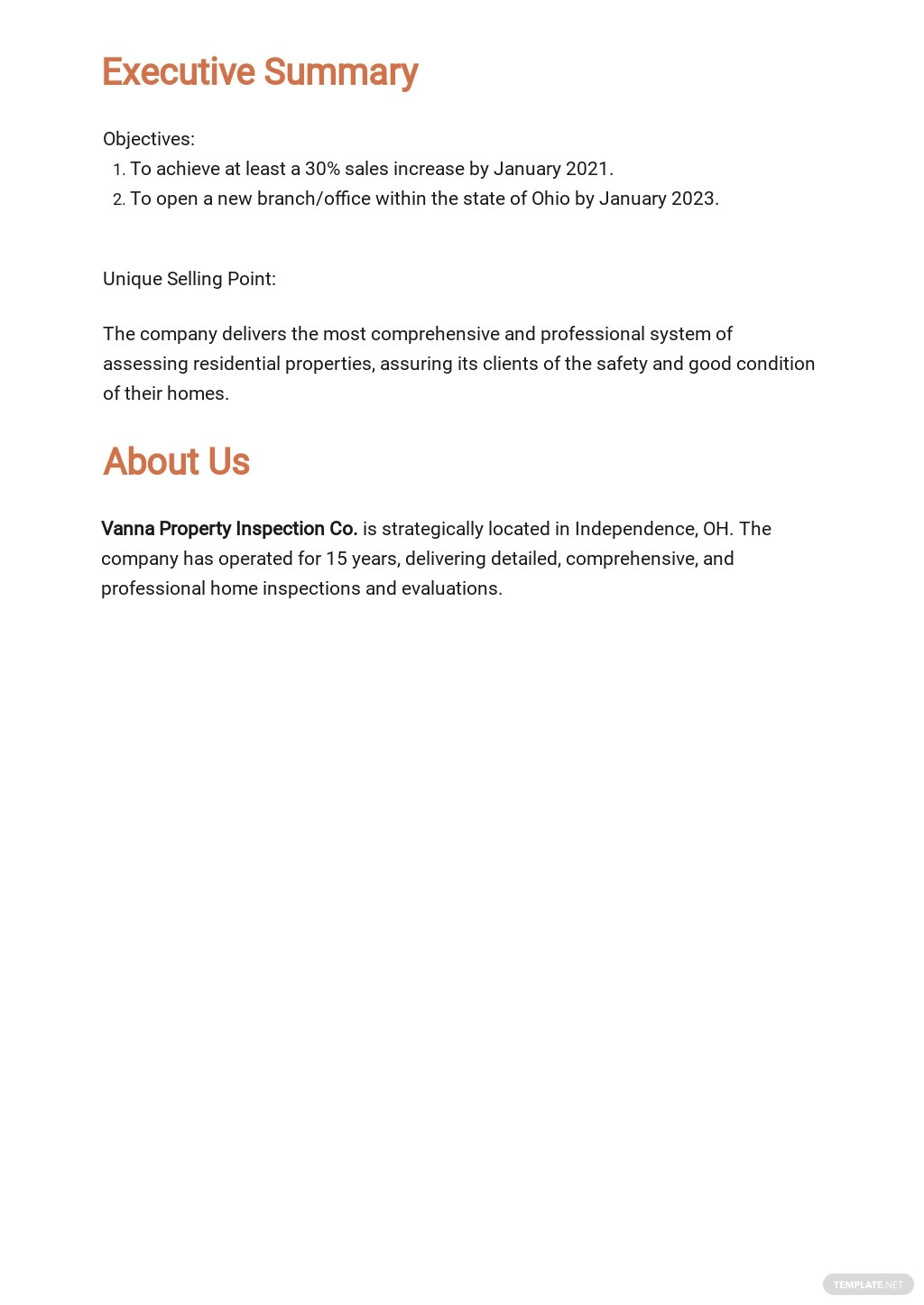 Business Property Inspection Business Plan Template 1.jpe