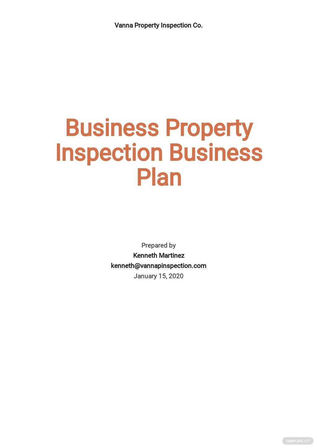Business Property Inspection Business Plan Template.jpe