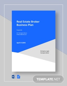 Real Estate Broker Business Plan Template