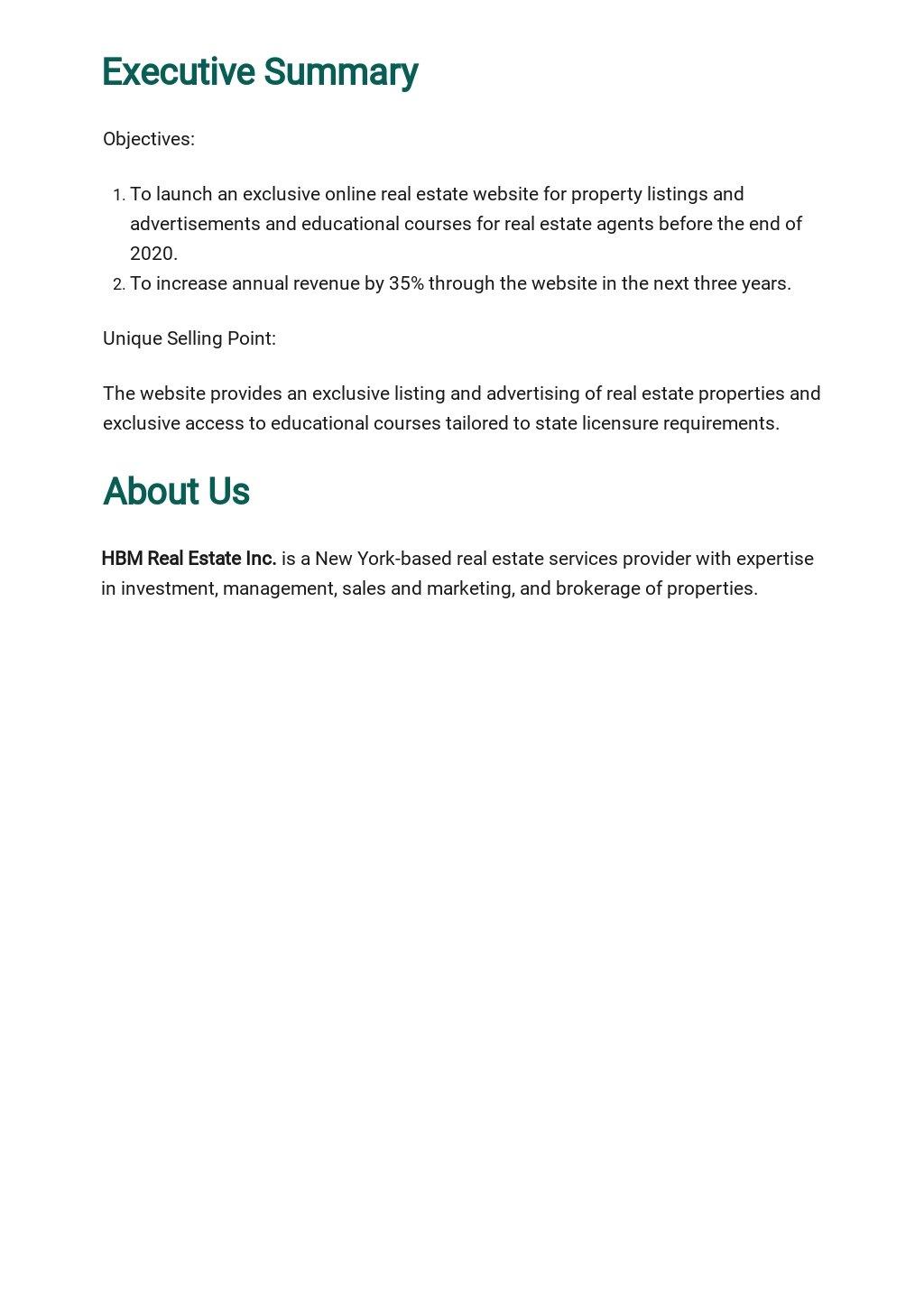 Real Estate Website Business Plan Template 1.jpe