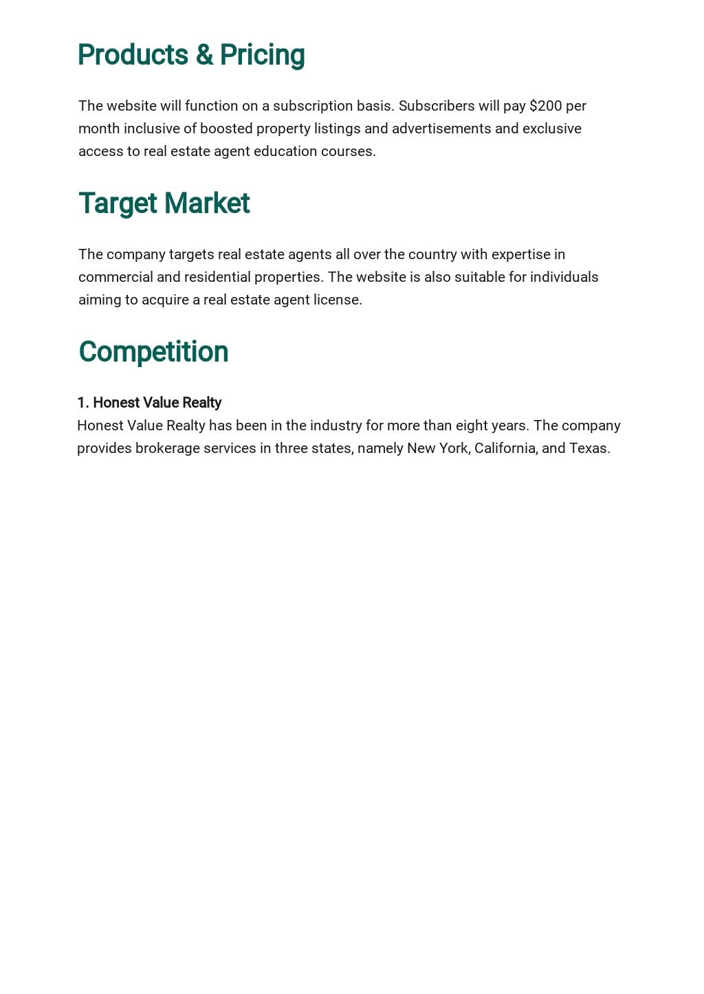 Real Estate Website Business Plan Template 2.jpe