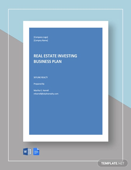Real Estate Investing Business Plan Template
