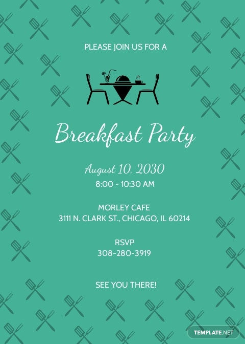 Simple Breakfast Party Invitation Template