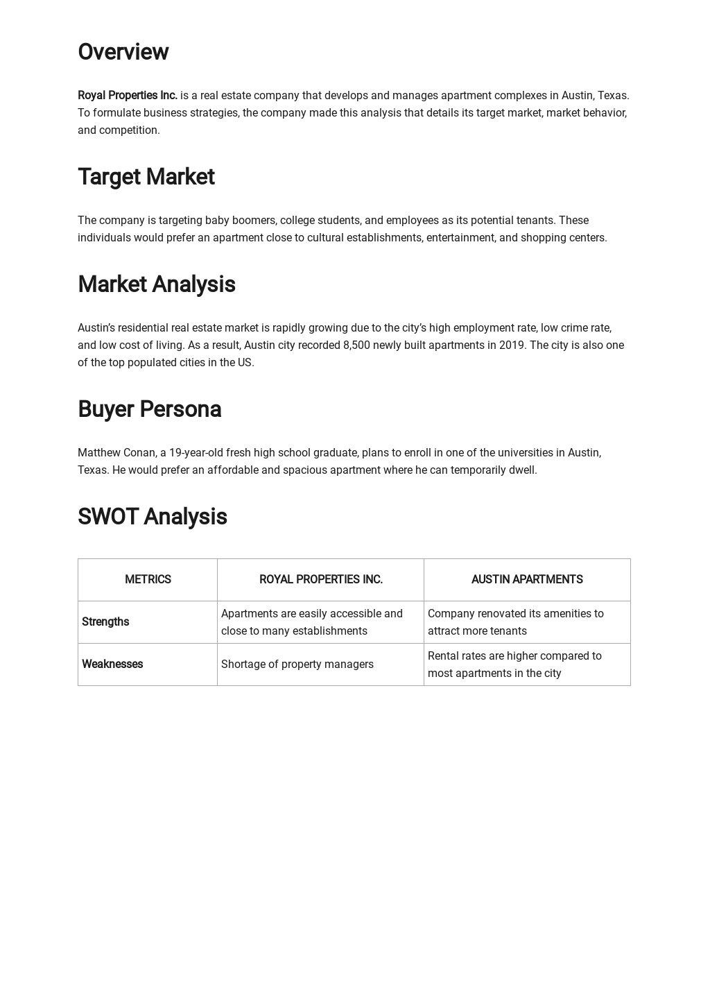 Free Simple Real Estate Market Analysis Template 1.jpe