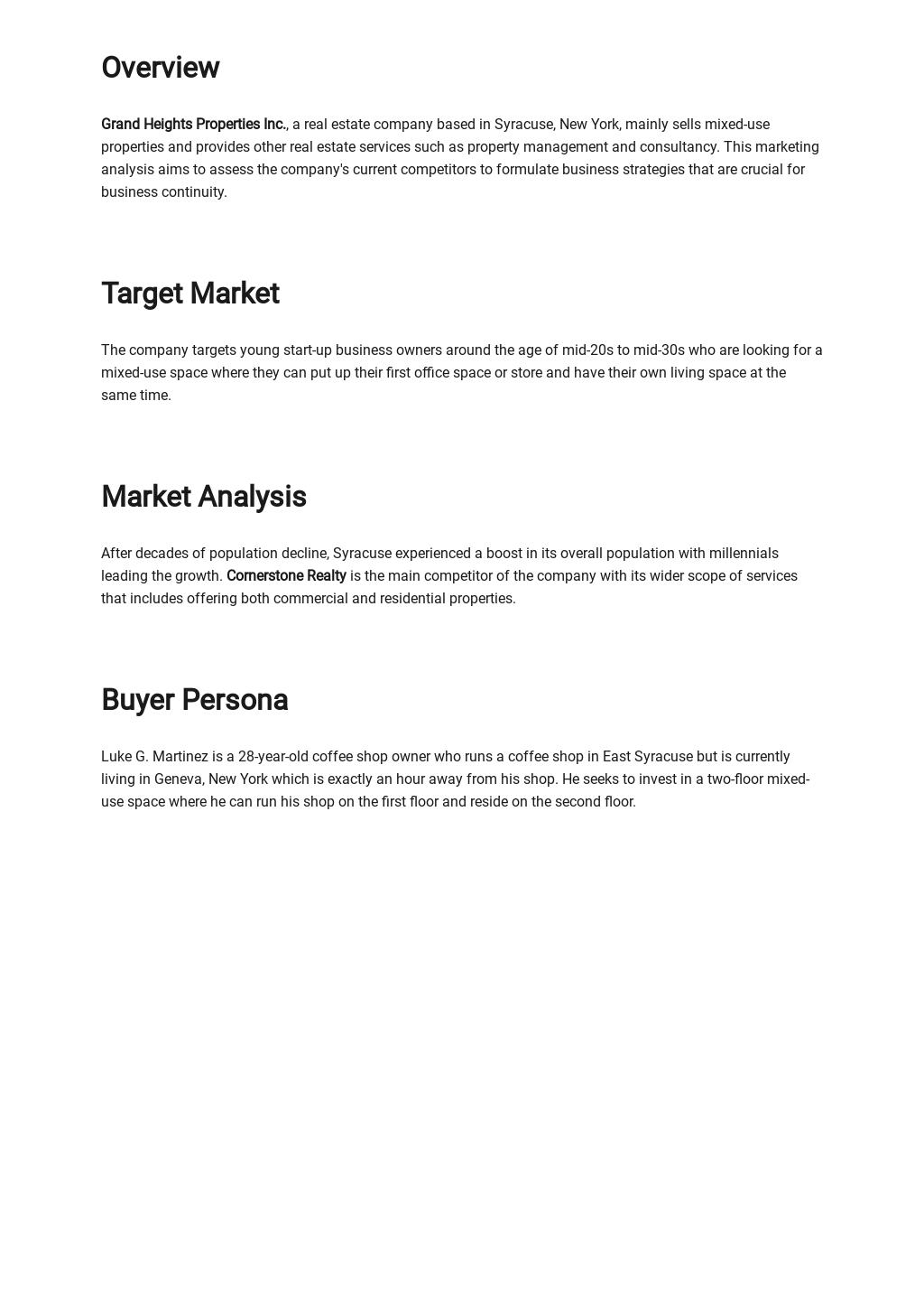 Free Basic Real Estate Market Analysis Template 1.jpe