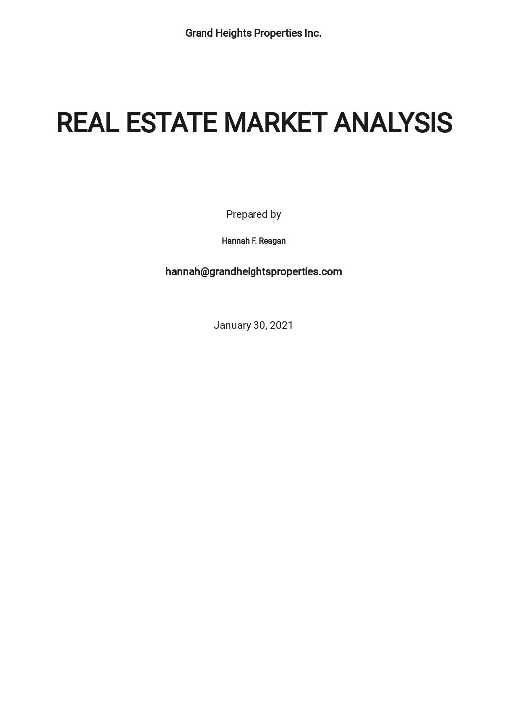 Free Basic Real Estate Market Analysis Template.jpe
