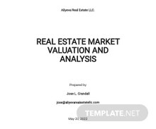 Real Estate Market Valuation and Analysis Template