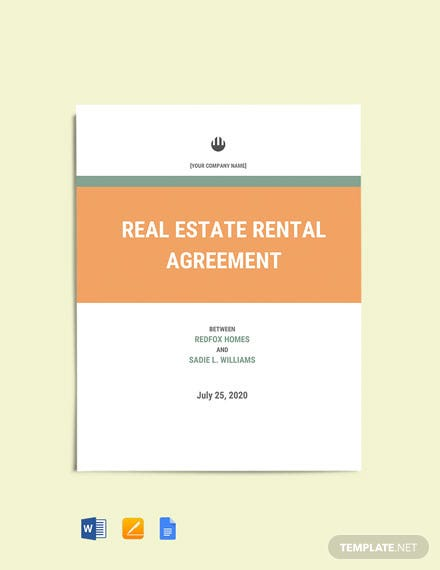 Rental Home Agreement Template