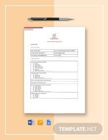 Rental Property Inquiry Form Template