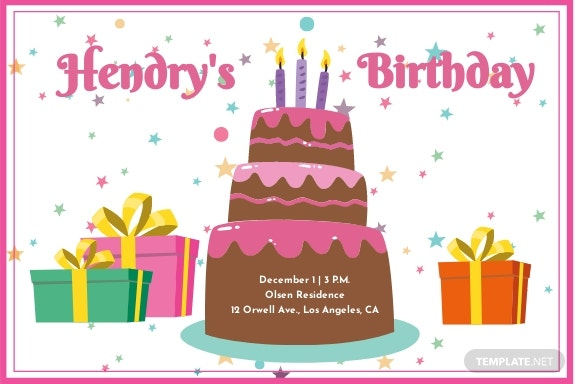Birthday Invitation Card Template