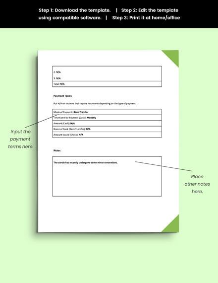 Property Information Form format