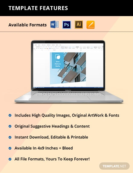 Free Creative Real Estate Rack Card Editable