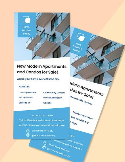 Free Creative Real Estate Rack Card Format